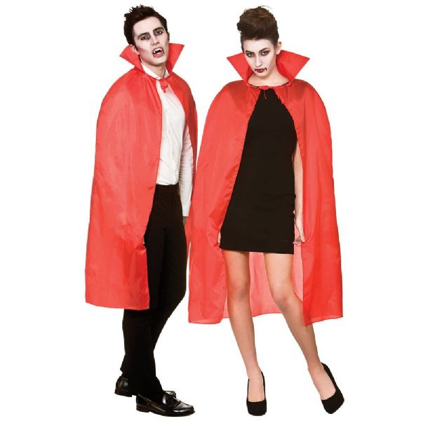 Adult Cape With Collar - Red